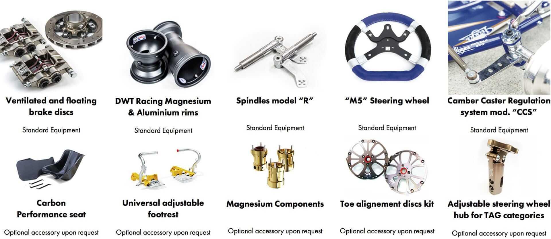 Praga Invictus Evo Amp Karting Wheel Hub Diagram Standard Equipment And Options