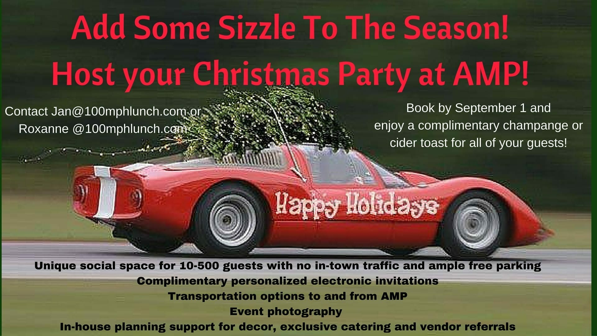 Unique Event SpaceAdd Some Sizzle To The Season!Host your Christmas Party at AMP! (1)