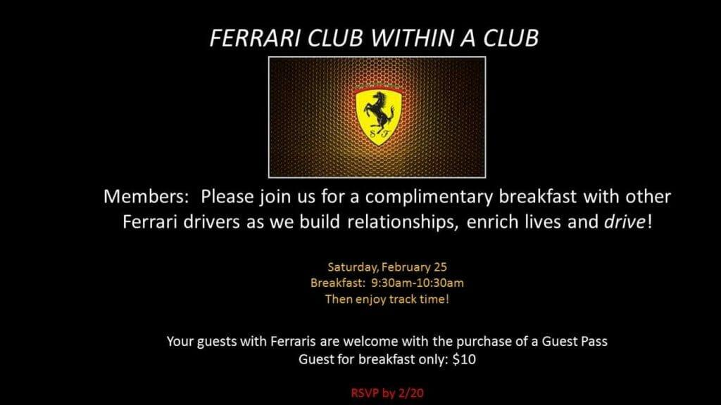 ferrari club 1024x576 - February 25, 2017 - Ferrari Club within a Club