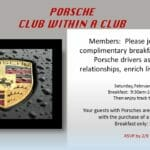 porche club 1 150x150 - February 11, 2017 - Porsche Club within a Club