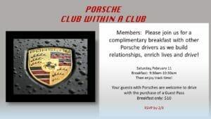 porche club 300x169 - February 11, 2017 - Porsche Club within a Club