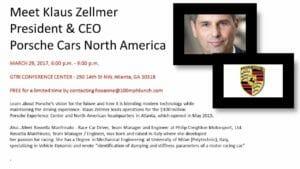 Porsche CEO, Klaus Zellmer