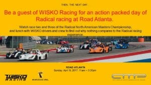 Radical at Road Atlanta 300x169 - April 9, 2017- Road Atlanta Radical Event