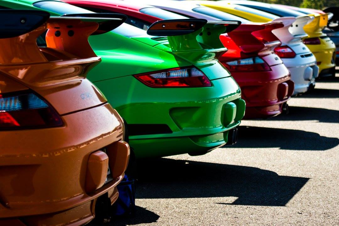 Over Forty Porsches Hit The Track During Charity Event