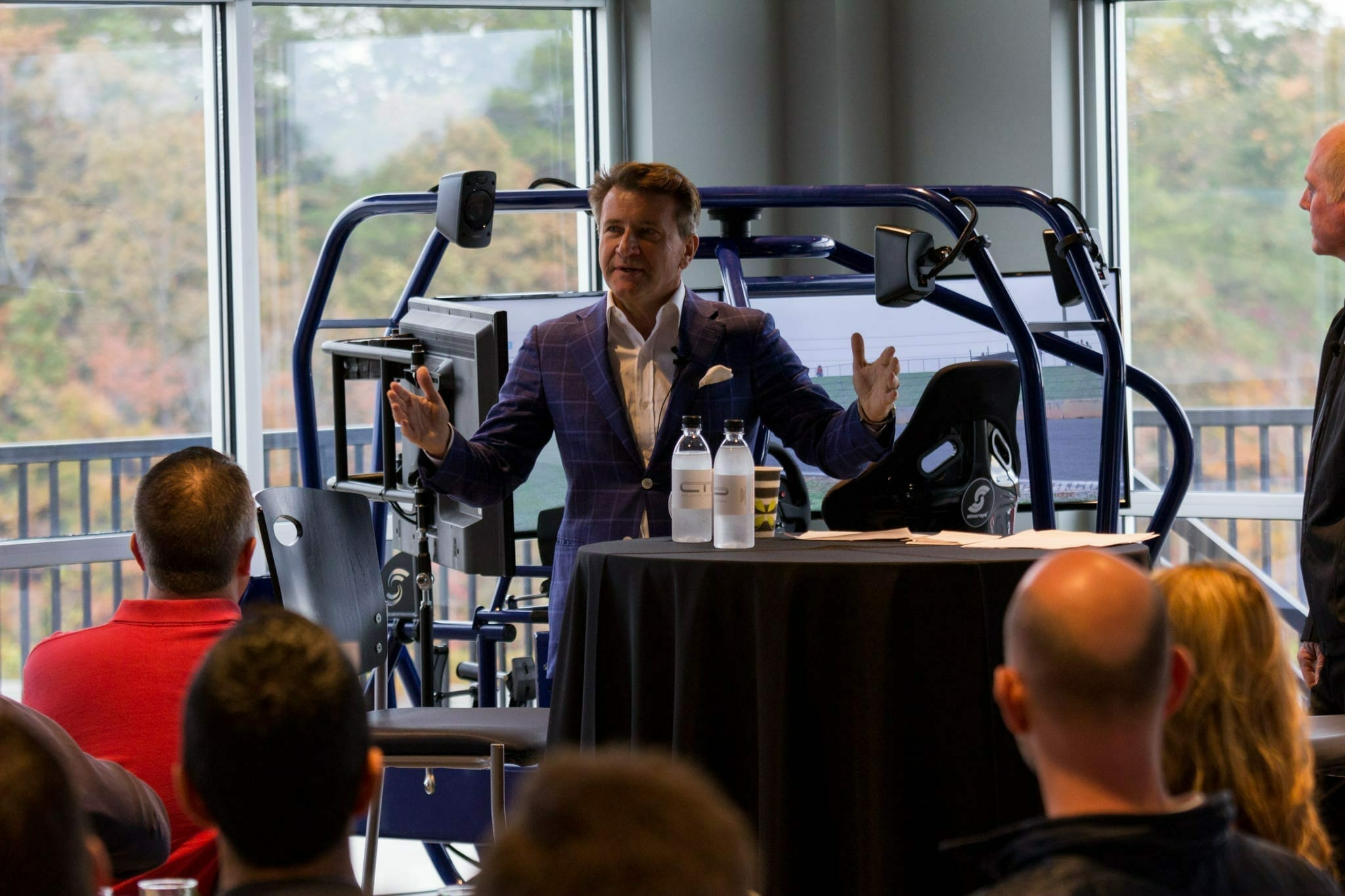 Shark Tank's Robert Herjavec visits Atlanta Motorsports Park to talk business, cyber security and fast cars.