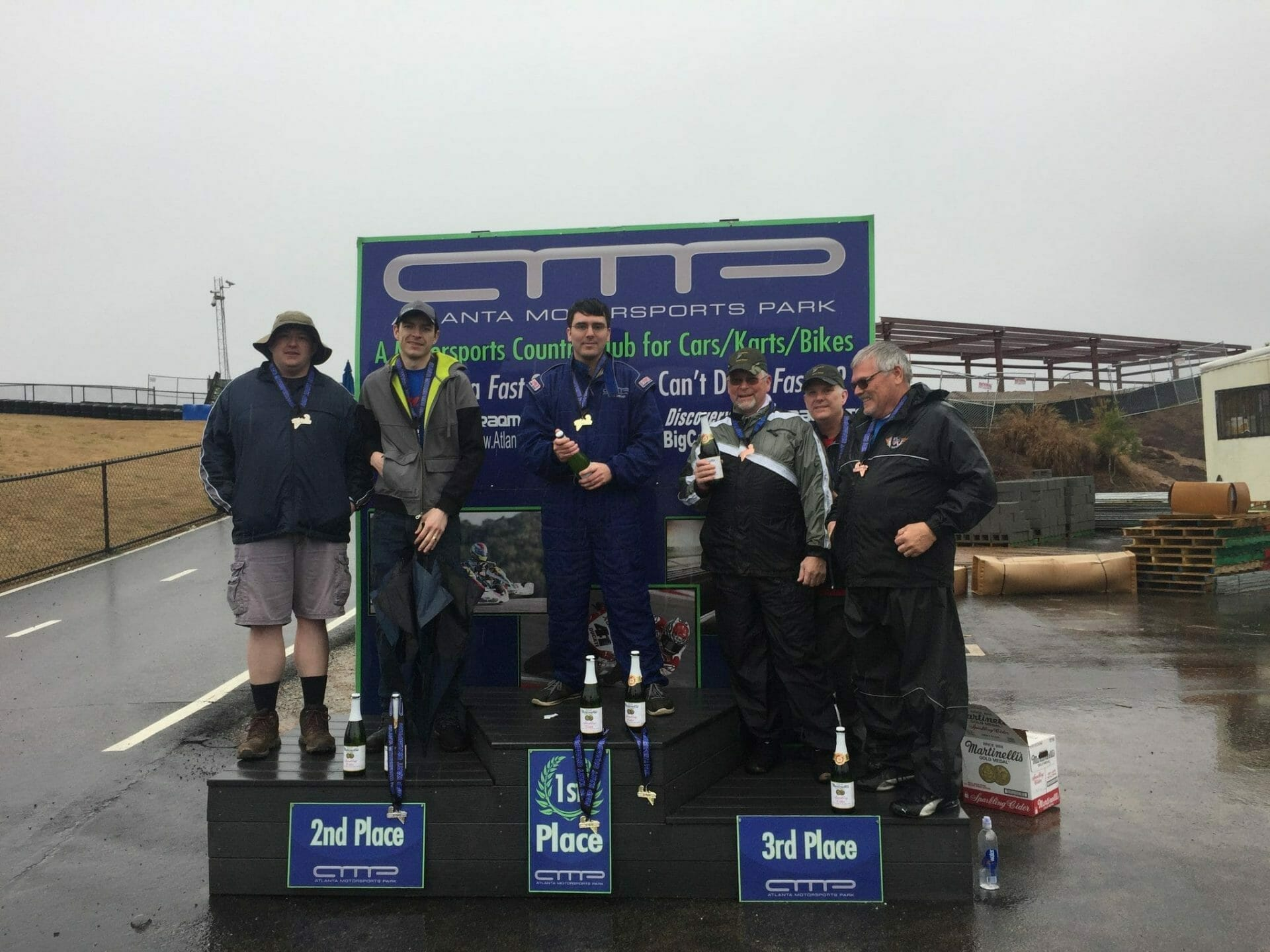 Twenty five teams completed a rainy four hour endurance race at AMP Kart Racing