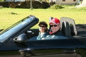 Mike and Ann Kerouac porsche trip pic - Our Members