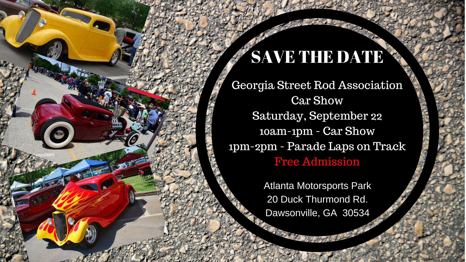 Street Rod Car Show Atlanta Motorsports Park - Car show atlanta ga