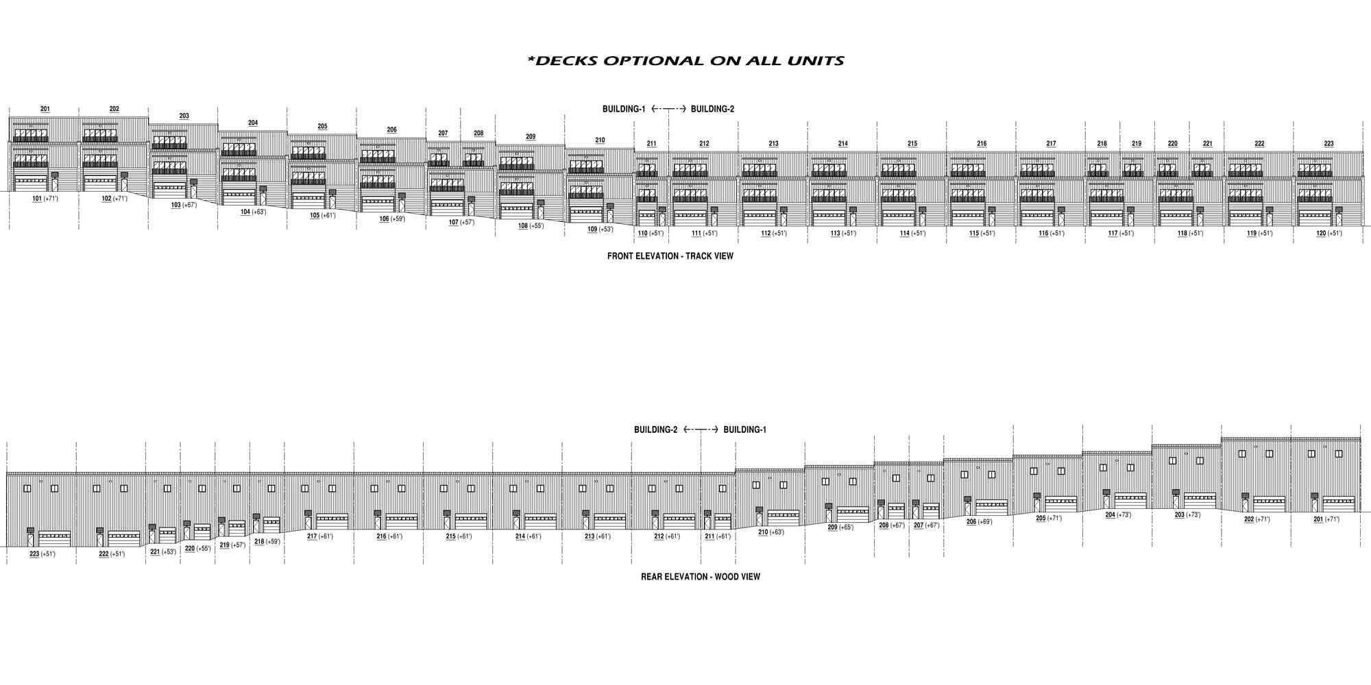 decks - Track Side Condos